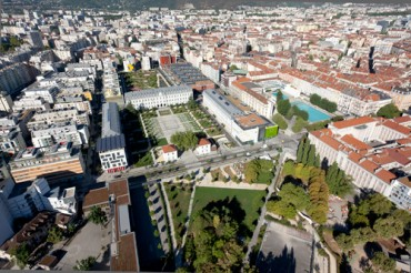 Grenoble, Quartier Hoche et De Bonne, vue aérienne
