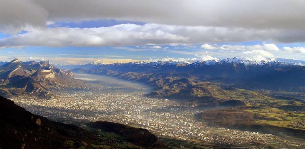 Grenoble depuis le Vercors