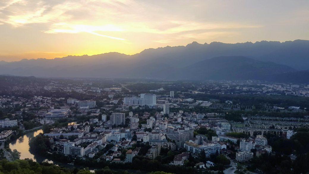 Grenoble couché de soleil