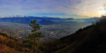 Grenoble Rachais couché de soleil